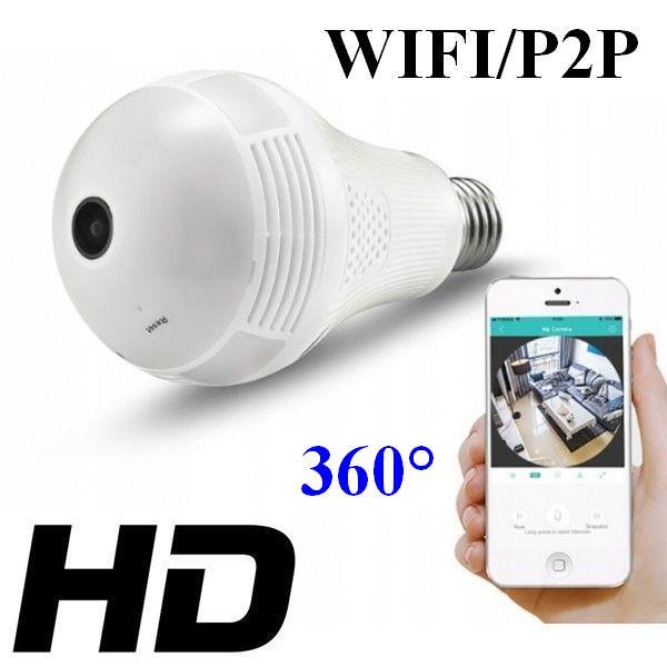 c74614daad316b Mini-Kamera WIFI/P2P HD, Ukryta w Żarówce (zasięg cały świat!!) + Dźwięk +  Zapis + Zoom.