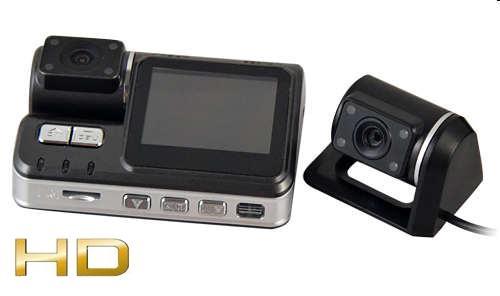 4d1a1986605ecf Kamera Samochodowa HD + Druga Kamera Zewnętrzna/Cofania + Ekran LCD 2