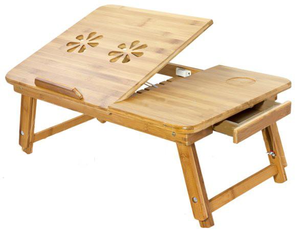 Drewniany Wielofunkcyjny Składany Stolik Pod Laptopa Z