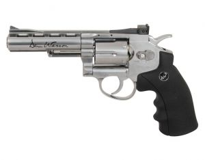 Rewolwer Dan Wesson 4'' Full Metal Nikiel na Kule 6mm/Co2.